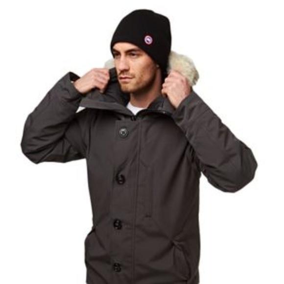 canada goose merino wool beanie 5221L Black Unisex 4ca45b1c7a2